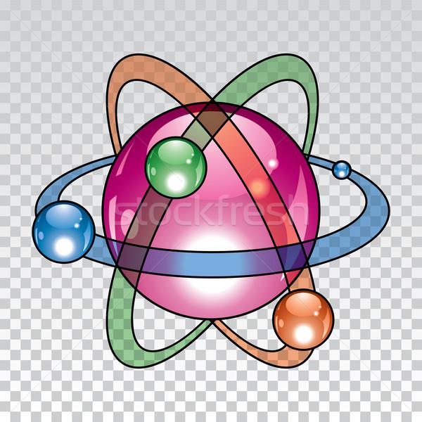 Vektor nukleáris atom ikon terv absztrakt Stock fotó © freesoulproduction