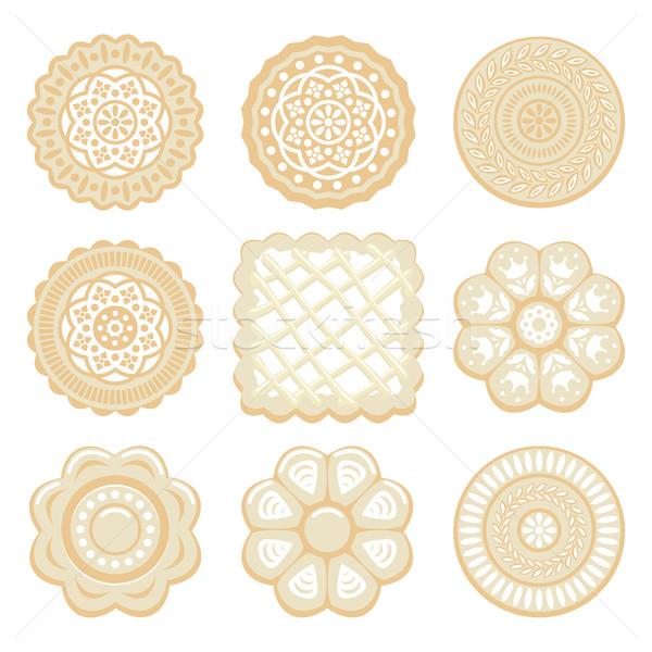 Vecteur biscuit puce cookies différent Photo stock © freesoulproduction