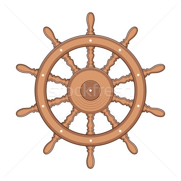 Vector volante buque barco yate aislado Foto stock © freesoulproduction