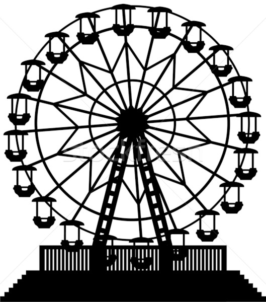 vector ferris wheel Stock photo © freesoulproduction