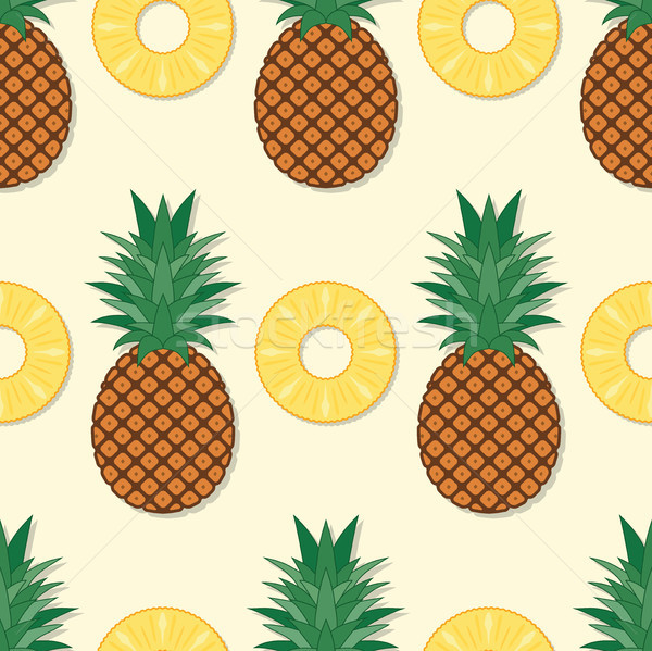 vector seamless pineapple pattern Stock photo © freesoulproduction