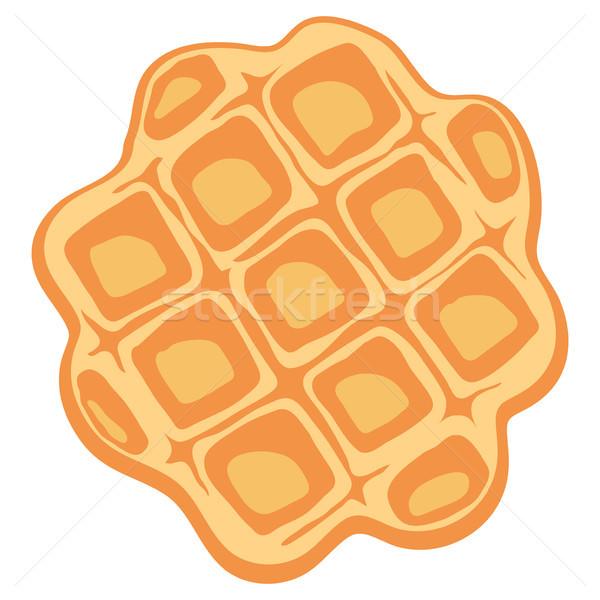 Vetor Bélgica waffle café da manhã isolado branco Foto stock © freesoulproduction