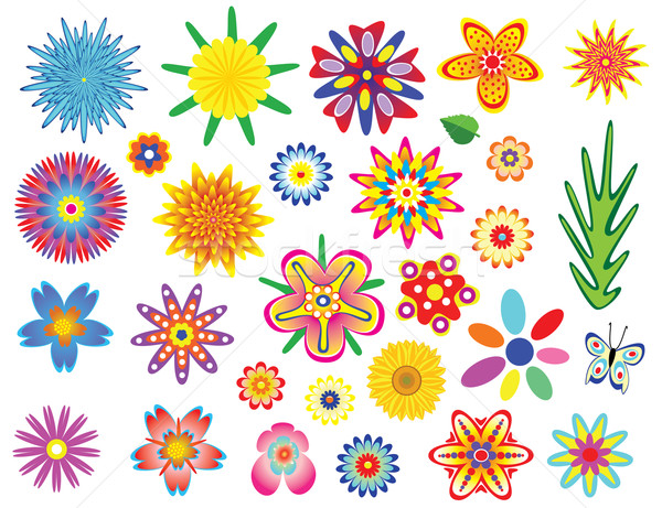 vector flowers set Stock photo © freesoulproduction