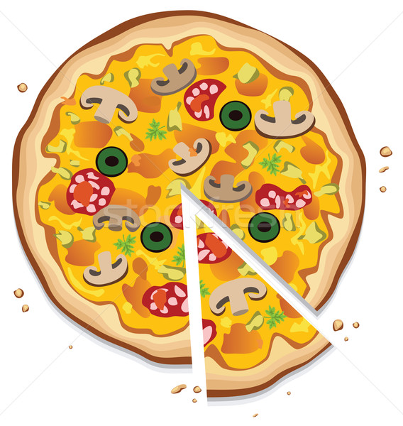 Vector italiano pizza blanco alimentos Foto stock © freesoulproduction