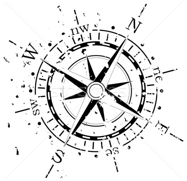grunge vector compass Stock photo © freesoulproduction
