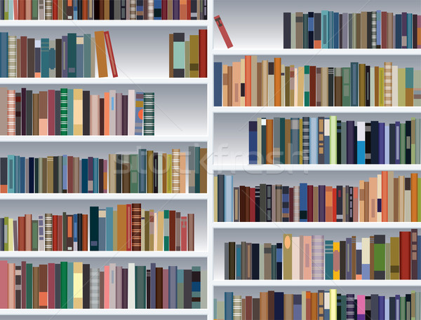 vector  modern bookshelf  Stock photo © freesoulproduction