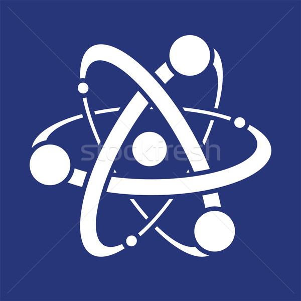 vector abstract science icon or symbol of atom  Stock photo © freesoulproduction