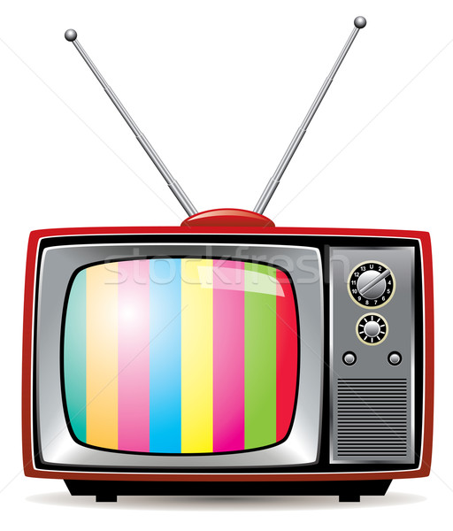 Stock photo: vector  retro tv set