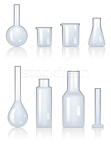 Vettore laboratorio cristalleria set medicina industria Foto d'archivio © freesoulproduction