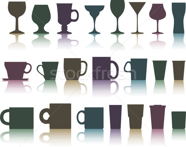 vector cups, mugs and glasses Stock photo © freesoulproduction