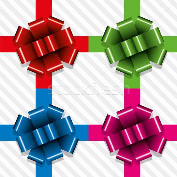 vector gift ribbons with bows  Stock photo © freesoulproduction