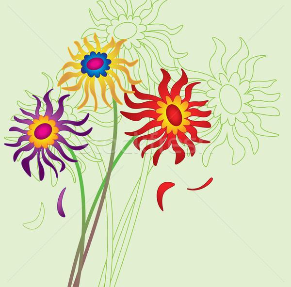Vector floral ramo flores arte verano Foto stock © freesoulproduction