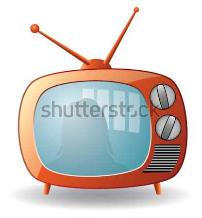 vector retro tv set with a cat Stock photo © freesoulproduction
