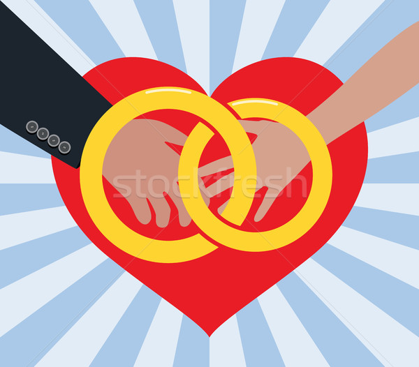 Vektor házasság illusztráció férfi nő szeretet Stock fotó © freesoulproduction
