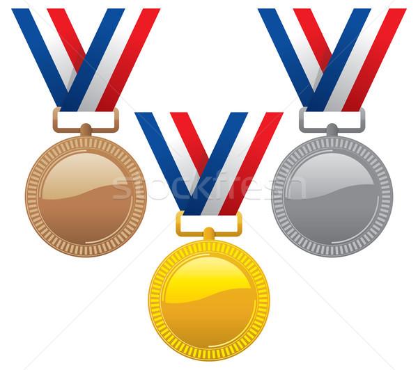 Vektör ayarlamak altın gümüş bronz Stok fotoğraf © freesoulproduction