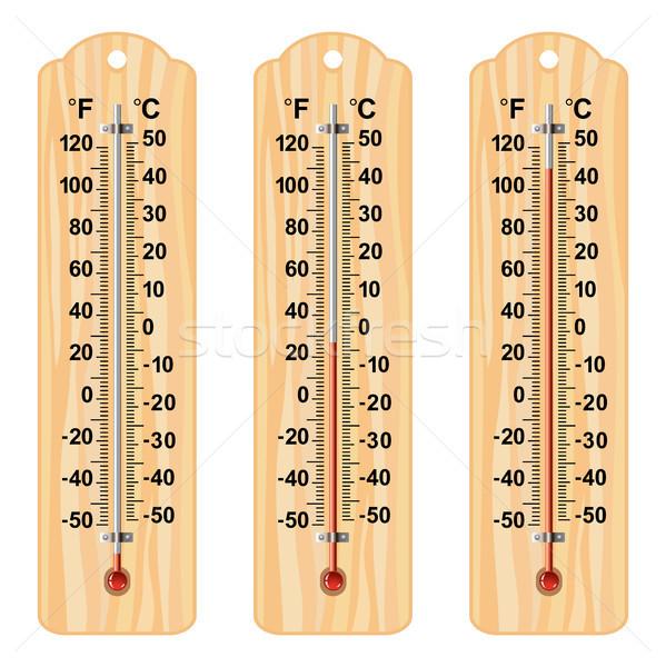 Vector establecer diferente celsius escala Foto stock © freesoulproduction