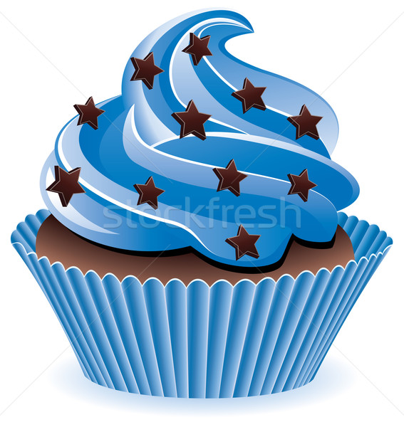 blue cupcake Stock photo © freesoulproduction