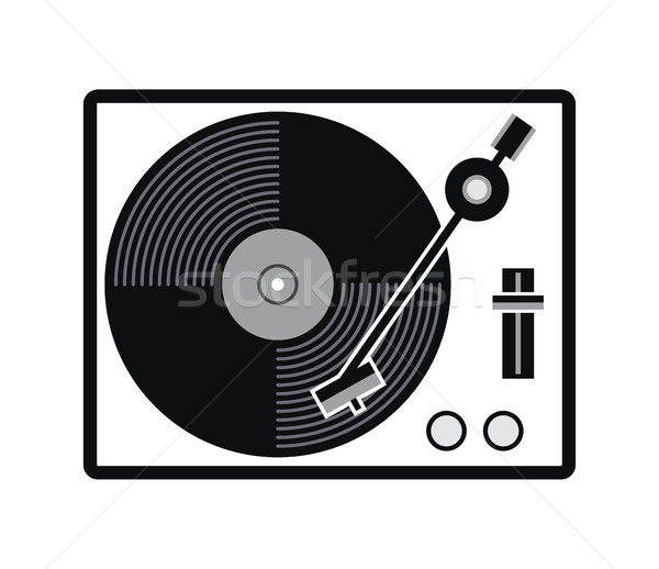 Vector plato vinilo tocadiscos icono Foto stock © freesoulproduction