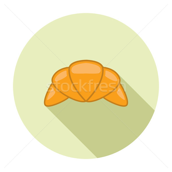 Vector croissant icon witte ontbijt Stockfoto © freesoulproduction