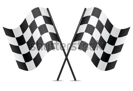 Vecteur course drapeaux voiture design vitesse Photo stock © freesoulproduction