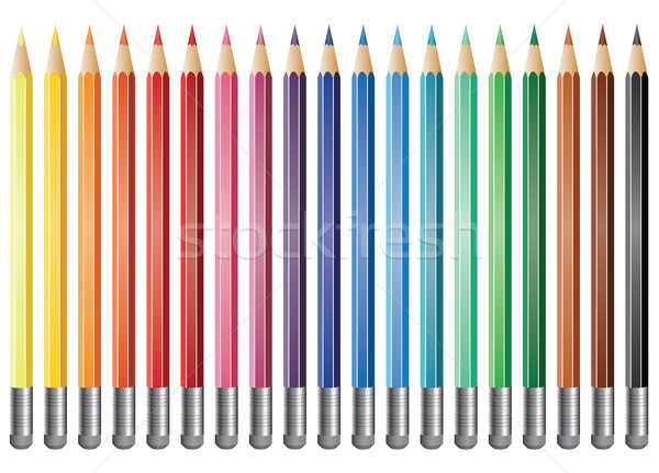vector coloured pencils Stock photo © freesoulproduction