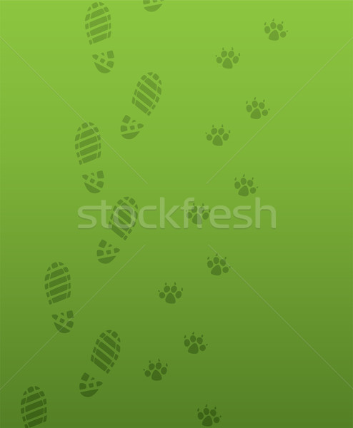 foot prints Stock photo © freesoulproduction