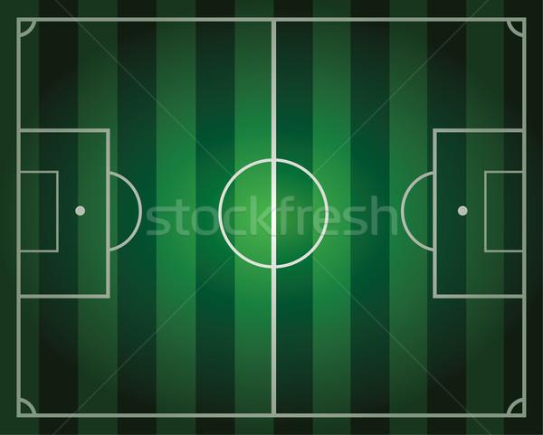 Vecteur terrain de football vert affaires herbe Photo stock © freesoulproduction