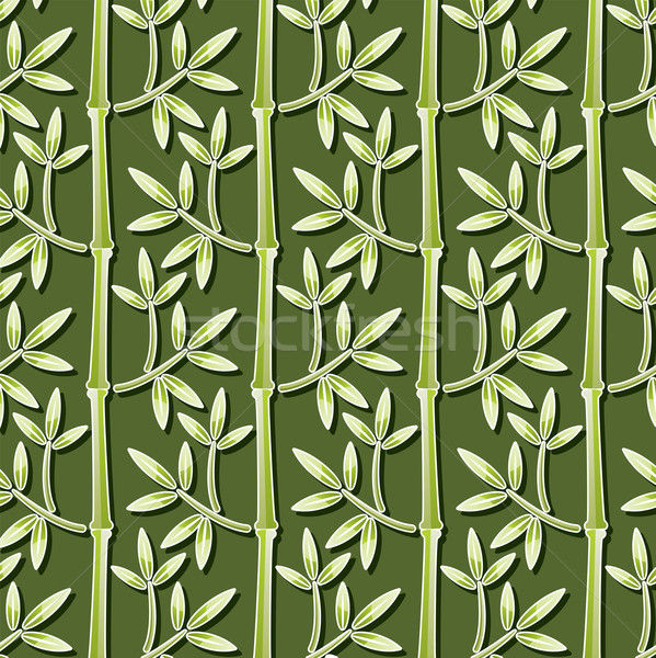 Zdjęcia stock: Wektora · bambusa · tapety · bezszwowy · drzewo · lasu