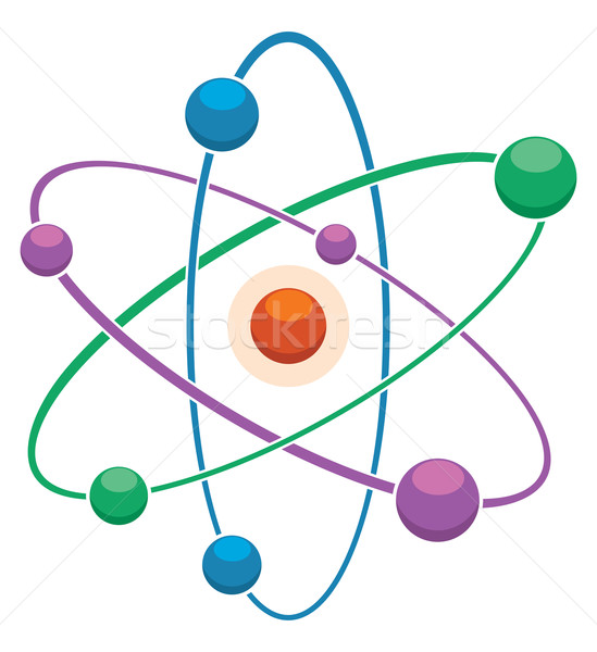 Vetor ícone abstrato átomo modelo natureza Foto stock © freesoulproduction