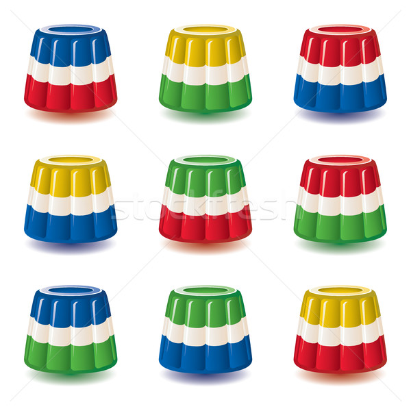 vector colorful gelatin jelly or pudding assortment Stock photo © freesoulproduction