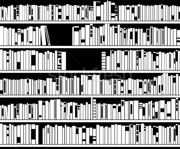 vector black and white modern bookshelf Stock photo © freesoulproduction