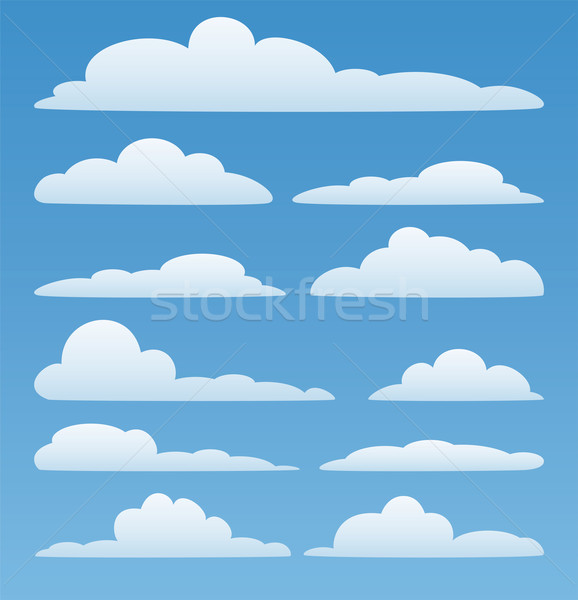 Vecteur nuages ciel design printemps Photo stock © freesoulproduction