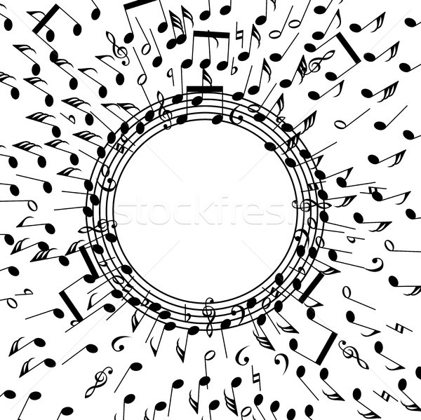 vector background of music notes Stock photo © freesoulproduction