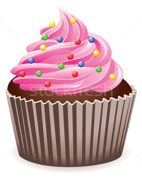 Vector roze home cake Blauw Stockfoto © freesoulproduction