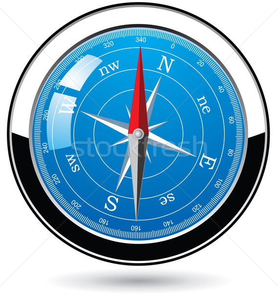 vector metal compass Stock photo © freesoulproduction