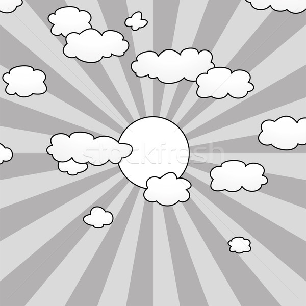 vector clouds and sun in the sky  Stock photo © freesoulproduction
