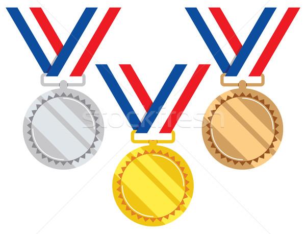 Vettore set oro argento bronzo Foto d'archivio © freesoulproduction
