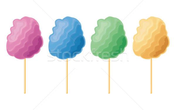 Vettore colorato candy cotone set isolato Foto d'archivio © freesoulproduction