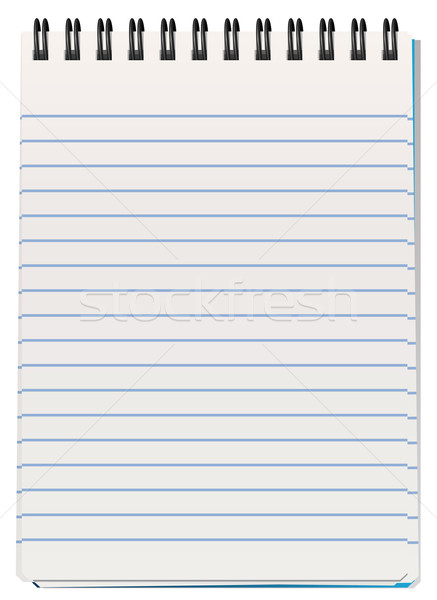 Notepad affaires bureau papier livre espace Photo stock © freesoulproduction