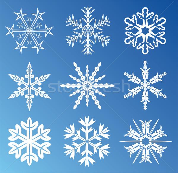 Stock photo: vector snowflakes