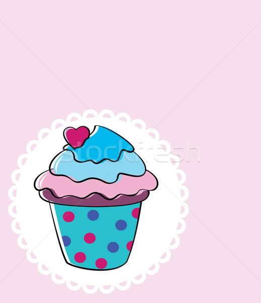 vector retro cupcake Stock photo © freesoulproduction