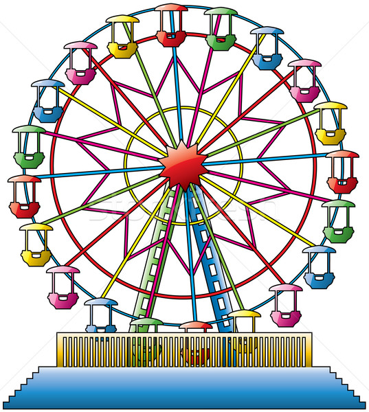 vector  colorful ferris wheel Stock photo © freesoulproduction