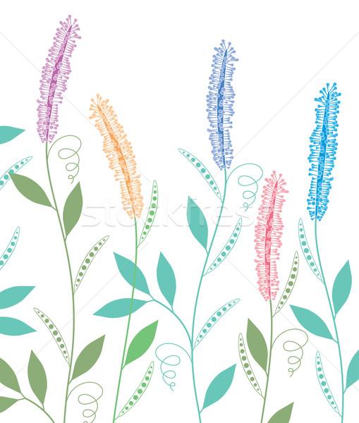 вектора весенние цветы цветок аннотация саду фон Сток-фото © freesoulproduction