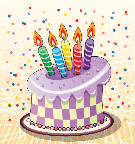 birthday cake Stock photo © freesoulproduction