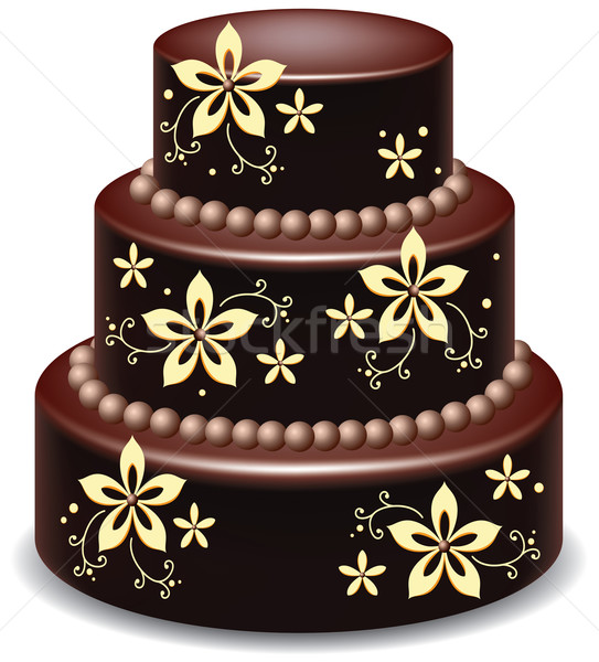vector chocolate cake Stock photo © freesoulproduction