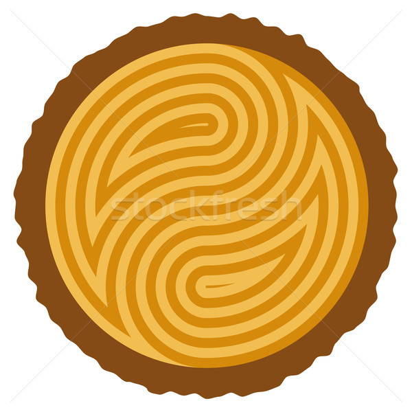 vector wooden log cut Stock photo © freesoulproduction
