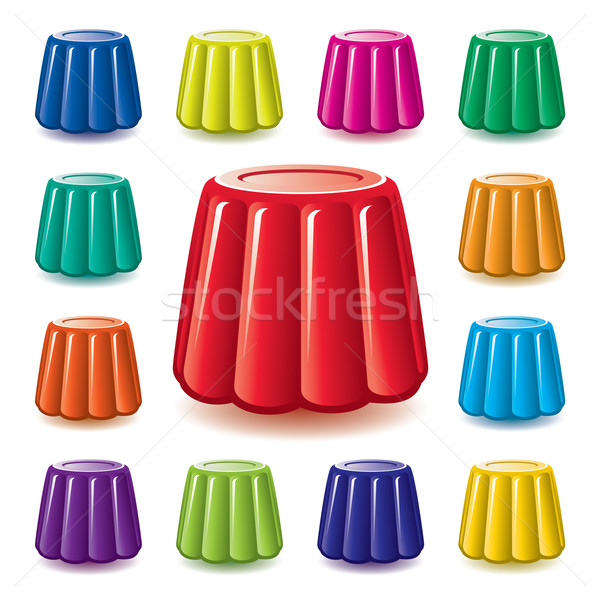 vector colorful  gelatin jelly assortment Stock photo © freesoulproduction