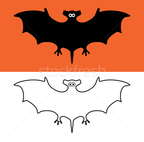 vector set of bat symbols, scary vampires of wildlife concept Stock photo © freesoulproduction