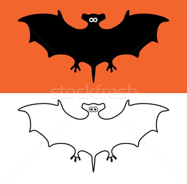 Wektora zestaw bat symbolika scary przyrody Zdjęcia stock © freesoulproduction
