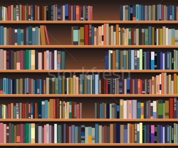 Vetor prateleira de livros escritório escolas projeto educação Foto stock © freesoulproduction